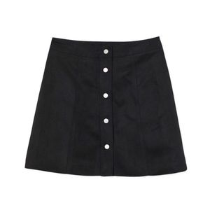 🆕 NWT Suede Button Up Skirt